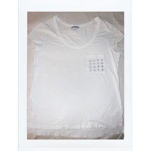 Express white detailed pocket shirt